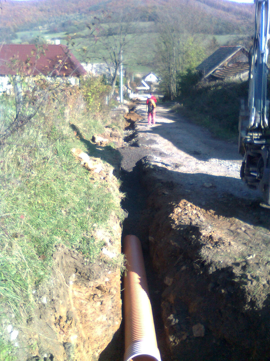 Kanalizácia v obci Málinec
